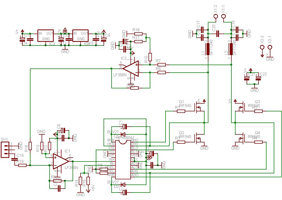 Full Bridge Selfosc Class D Amp Diyaudio Amplifier Circuit Diagram Schematic