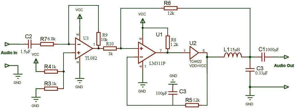 223227 Development 10w Class D on simple audio amplifier schematic